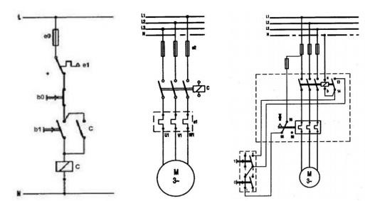Asenkron Motorlara Doğrudan Yol Verme Kumanda, Güç ve Montaj Şeması