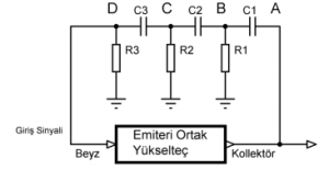 RC osilatör blok diyagramı