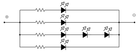 led diyot paralel baglanti