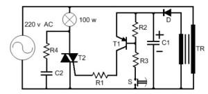AC Akımda Transistörle Tetikleme