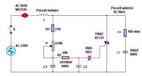AC Motor Hız Kontrol Devresi