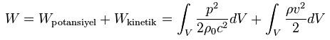 ses enerji formulu