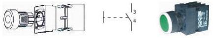 Start butonu yapısı ve kontak sembolü
