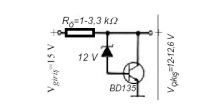 Transistör ve zener diyotlu seri regülatör