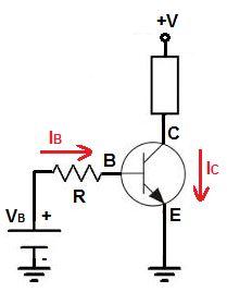 NPN tipi bir transistörün devreye bağlantısı