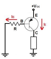 PNP tipi bir transistörün devreye bağlantısı.