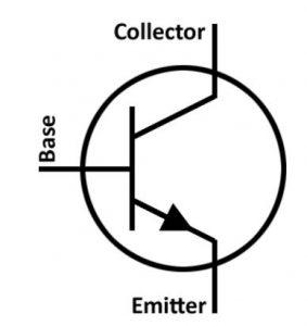 NPN tipinde bir transistörün bacakları