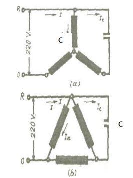 Üç fazlı motorların bir fazlı şebekeye bağlantıları