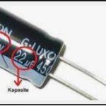 Kondansatör Çalışma Voltajı